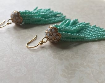 Beaded Tassle Earrings