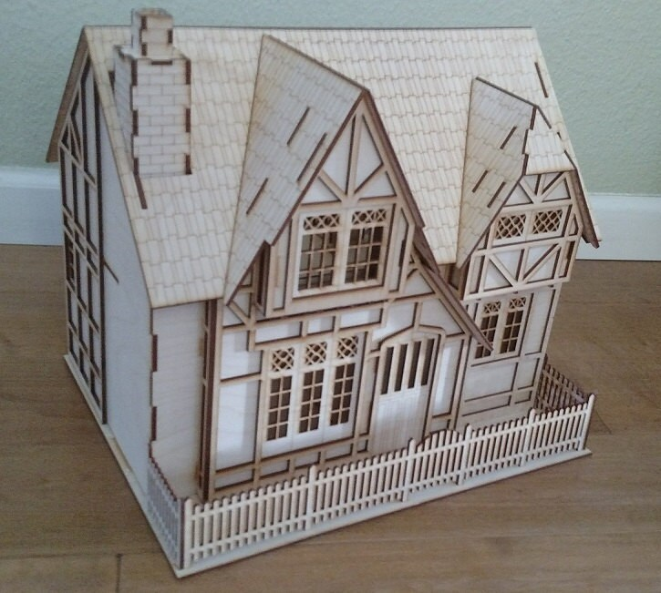 Tudor Style 1 2 Scale Baltic Birch Laser Cut Wooden