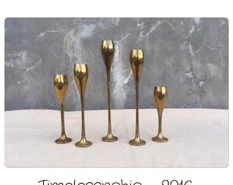 Candlestick Holders - Candlestics - Brass Candlesticks - Candle Holders - Candleholders - Danish Modern - Candlestick Set - Candlesticks
