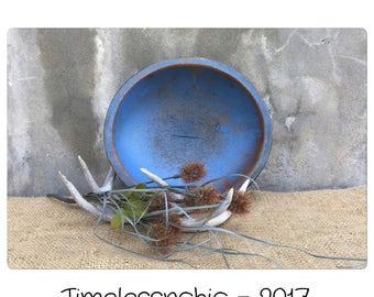 Munising Bowl - Vintage Dough Bowl -Wooden Dough Bowl - Wood Dough Bowl -  - Primitive Dough Bowl - Fruit Bowl - Catchall - Candleholder