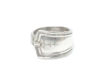 Sterling Silver Spoon Ring Simple Tailored Wrap Size 7 Vintage