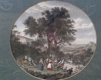 Art Print - The Rural Italian's Wedding - print by Francesco Zuccarelli - Late 1700s
