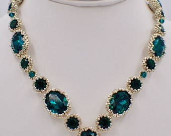 Emerald City Necklace PDF Jewelry Making Tutorial (INSTANT DOWNLOAD)