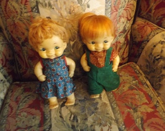 Vintage Twin Dolls   Boy and Girls    From the 50's?????????