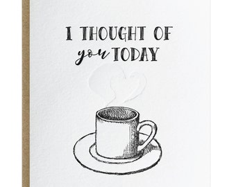 I Thought of You Today Letterpress 5 pack