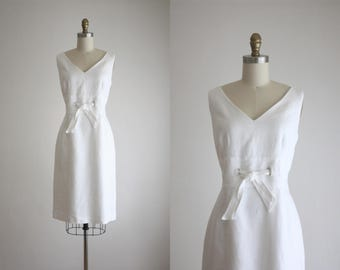 sculptural linen dress