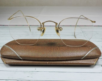 Vintage Glasses- Octagon Shape with Case