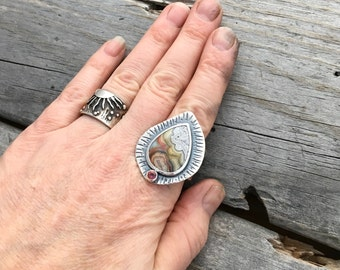 Sterling Silver Ring Handmade By Wild Prairie  Silver Jewelry Size 10 Ring