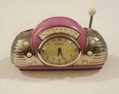 Vintage Mini Radio Juke Box Enamel Clock by Rumours