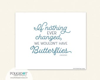 If Nothing Ever Changed We Wouldn't Have Butterflies  Framable Print