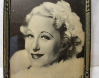 Framed Autographed Fan Club Photo of 1930s Star Grace Moore