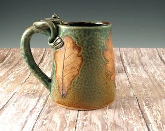 Beer Tankard, Handmade Pottery Mug, Large Coffee Mug Cup, Tankard, Beer Mug, Big Ceramic Mug, Frog Mug, Gift for Him, Fathers Day, 296