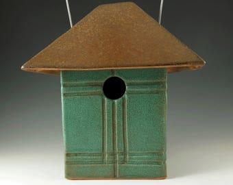 Mission Style Birdhouse - Handmade Ceramic Bird House - Garden Art - Garden Decor - Unique Birdhouse - Ready for Occupancy - 314