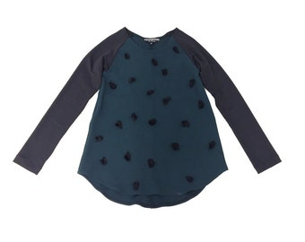 Polka dot Top / Luscious Meadow / Printed Top / Polka Dot / Winter Fashion / Tunic / Organic Cotton / Casual Top / Party Top / Long Sleeve