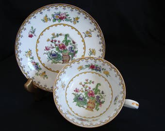 """Spode Copeland """"Peplow"""" Cup and Saucer c.1910"""