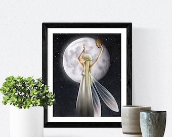 Spring cleaning sale Moondance - Signed print