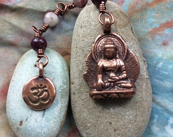 The Loving Kindness Mala in Copper and Tourmaline. A fundraiser for Alzheimers Research