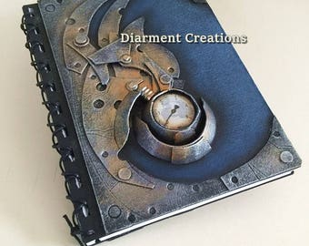 Steampunk Notebook Blue