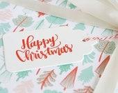 Letterpress Gift Tags - Happy Christmas - Season's Greetings
