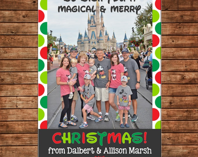 Photo Picture Magic Kingdom Polka Dot Magical Merry Christmas  - Digital File