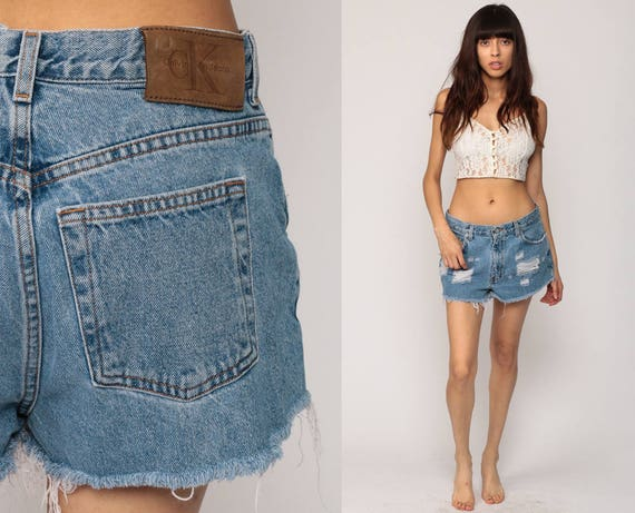 90s cut off shorts
