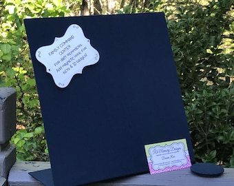 Solid Color Choice -  Magnet Board - Desk Organizer - Message Board -  Housewarming - Show Display - Vision Board - Magnet Collection