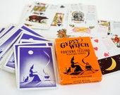 Vintage 1970s Gypsy Witch Fortune Telling Playing Cards in Box Complete with Instructions