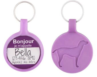 The Original Bonjour Hello My Name Is Personalized Dog ID Pet Tag Custom