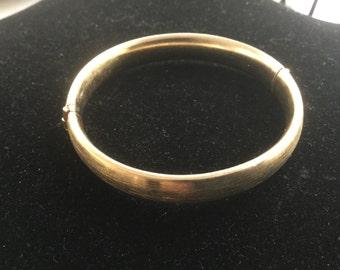 Vintage Gold Filled Bangle Bracelet Expansion 1960's