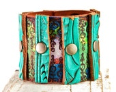 SALE Turquoise Jewelry Cuffs Bracelets - Bohemian Southwest Chic - Etsy Finds Handmade Bracelet - Christmas Gifts