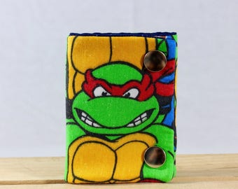TMNT Raphael 3 Fold Chain Wallet Recycled