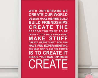 Expressions of your world Create wall art print