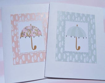 Baby Shower Cards - New Baby Card - Baby Girl Card - Baby Boy Card - Baby Gift Thank You Card - Welcome New Baby Card - burd