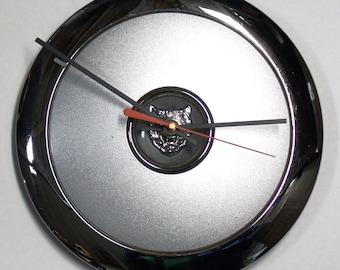 1998 - 2003 Jaguar Hub Cap Wall Clock - XJ8 XJR - Recycled Hubcap - 1999 2000 2001 2002