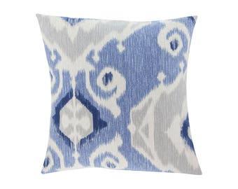 BLUE Pillow Cover.Decorator Pillow Cover.Home Decor.Large Print. Delhi Yacht. Cushions. Cushion.Pillow. Premier Prints