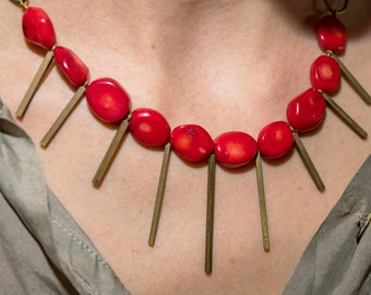 Red Warrior Necklace