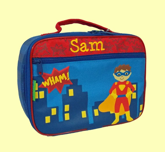 Personalized Stephen Joseph SUPER HERO Lunchbox