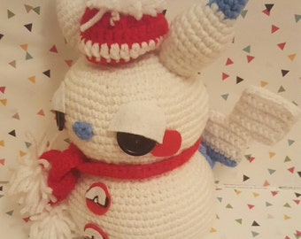 Pokemon Pikachu Amigurumi Snowman Pattern PDF - Christmas - Winter - Holidays - Instant Download
