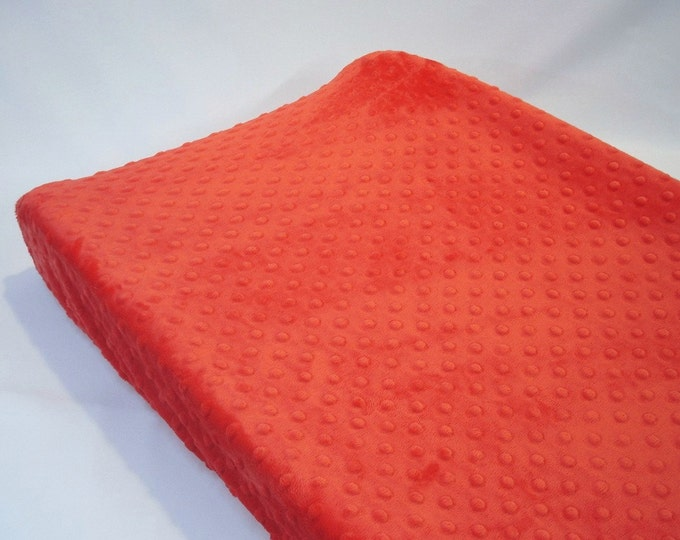 Red Changing Pad Cover Cherry