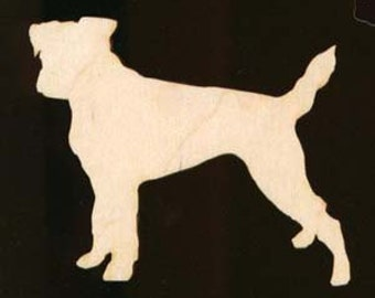 Jack Russell Terrier Shape Ornament Natural Craft Wood Cutout 1112