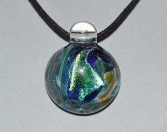 Heady Glass Dichro Pendant - Hand Blown Boro Lampwork Glass Jewelry
