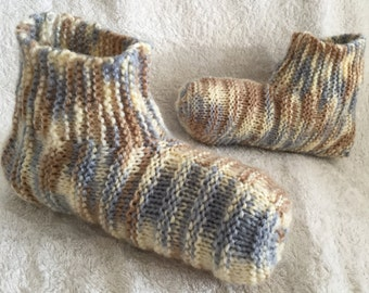 Ribbed Adult Bootie Slippers - Ready to Ship with FREE Shipping - Men's Size 9-10