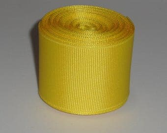 Yellow 1.5 inch Solid Grosgrain Ribbon 10 Yards