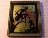 She had to kiss a lot of frogs ~ Vintage Glass Picture ~ Foil Art ~ Reverse Glass Painting