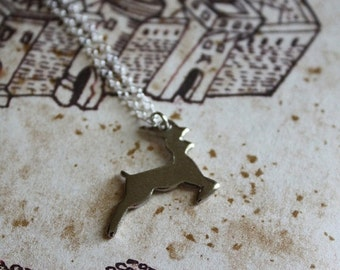 ON SALE Stag Necklace - Forest Creature - Woodland Necklace - Deer Necklace - Animal Totem