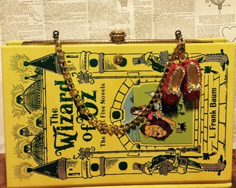 Book Clutch The Wizard of Oz by L. Frank Baum Yellow Brick Illustrated Cover Fantasy Book Purse Ready to Ship