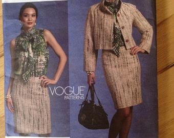Vogue 1127 American Designer Badgely Mischka Top, skirt and Jacket 6-8-10-12