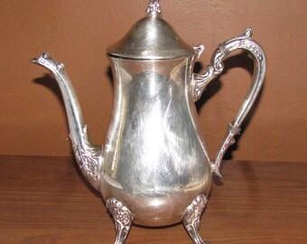 REDUCED Antique Leonard Silverplate coffee pot