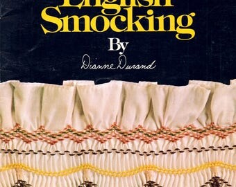 Art of English Smocking Learn How to Do Make Gathered Pleated Patterns Sewing Craft Pattern Leaflet 1001