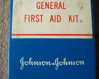 Johnson & Johnson General First Aid Kit from '60's or '70's Partial Contents